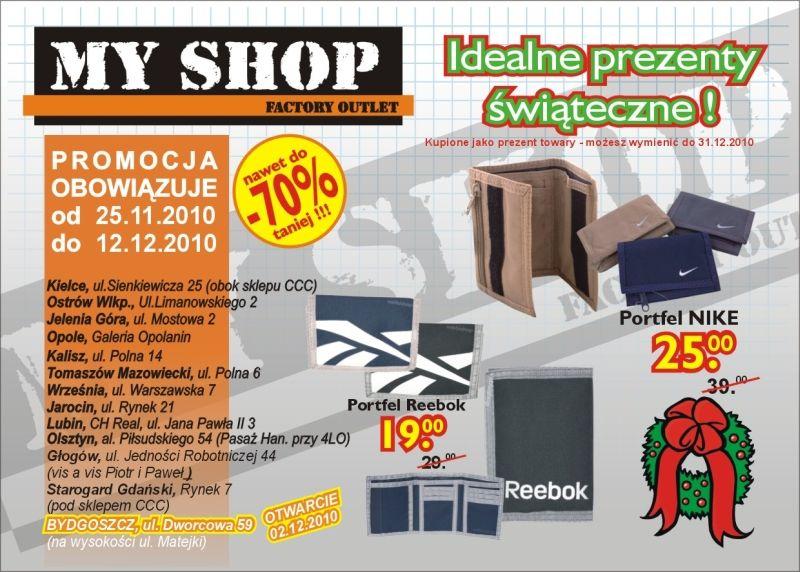 Myshop Sklep Wyprzedazowy Towarow Markowych Gazetka Promocyjna 2010 11 25 2010 12 12