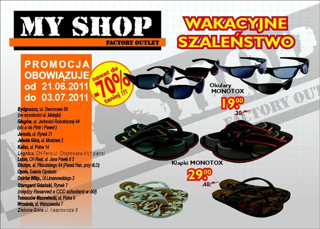 Myshop Sklep Wyprzedazowy Towarow Markowych Gazetka Promocyjna 2011 06 21 2011 07 03