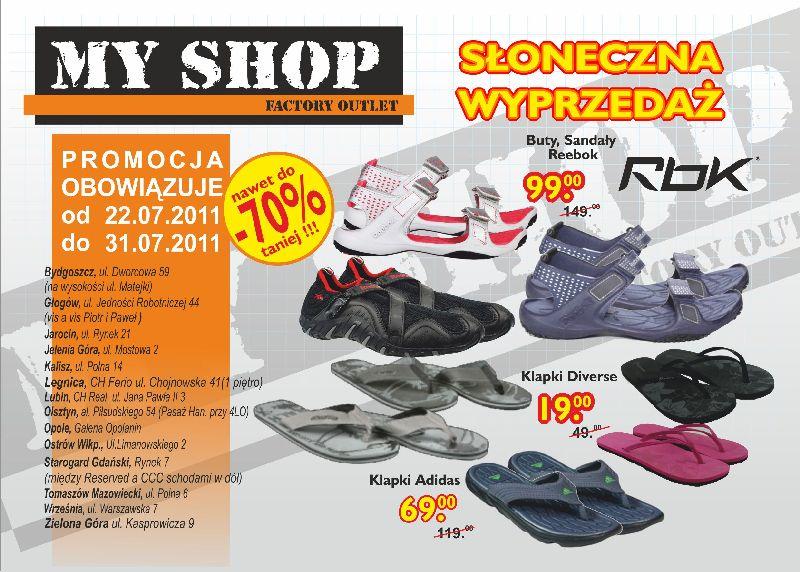 Myshop Sklep Wyprzedazowy Towarow Markowych Gazetka Promocyjna 2011 07 22 2011 07 31