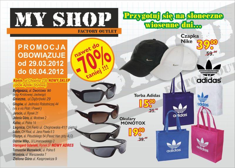 Myshop Sklep Wyprzedazowy Towarow Markowych Gazetka Promocyjna 2012 03 29 2012 04 08