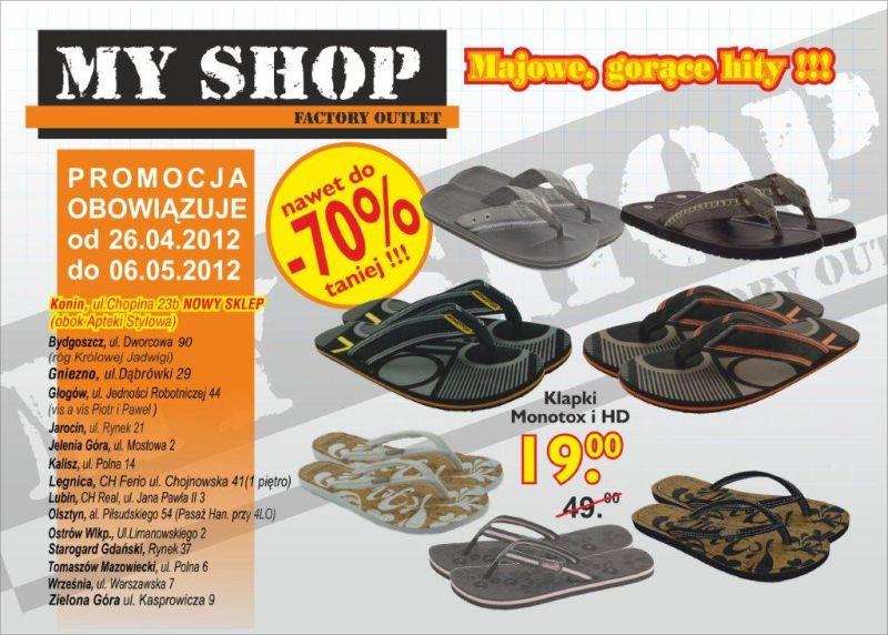 Myshop Sklep Wyprzedazowy Towarow Markowych Gazetka Promocyjna 2012 04 26 2012 05 06